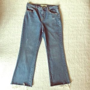 TOPSHOP Cropped Kick Flare Jeans